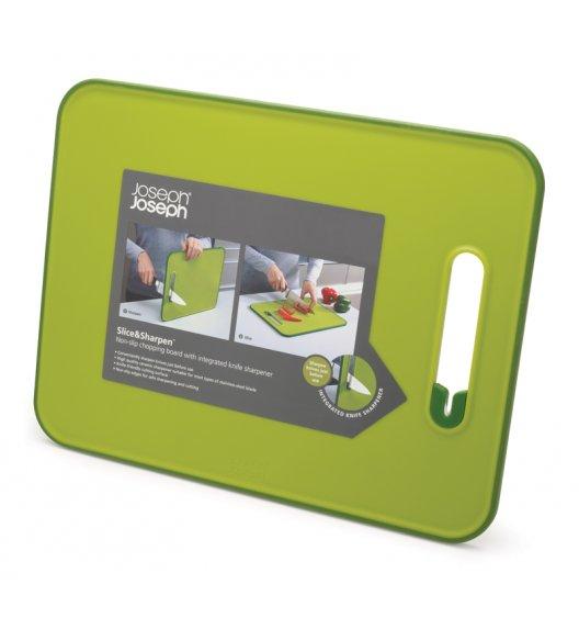 JOSEPH JOSEPH Mała deska do krojenia 30 x 22 cm + ostrzałka ceramiczna / zielona / Btrzy