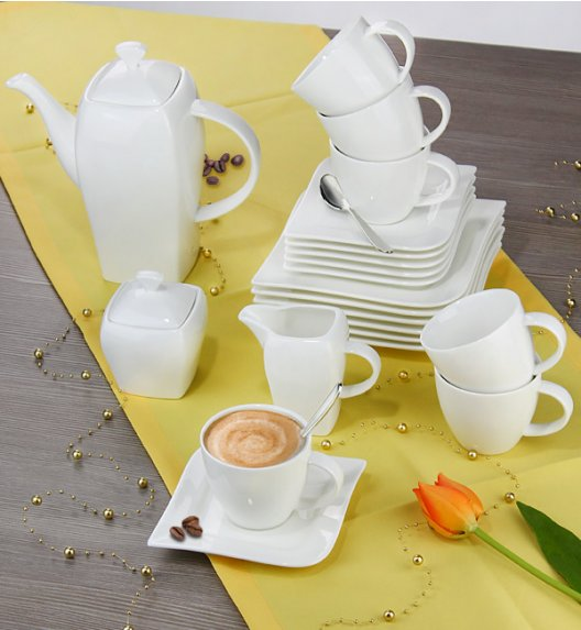 AMBITION FALA Serwis deserowy 23 elementy dla 6 osób / Porcelana + GRATIS 49 ZŁ /  61161