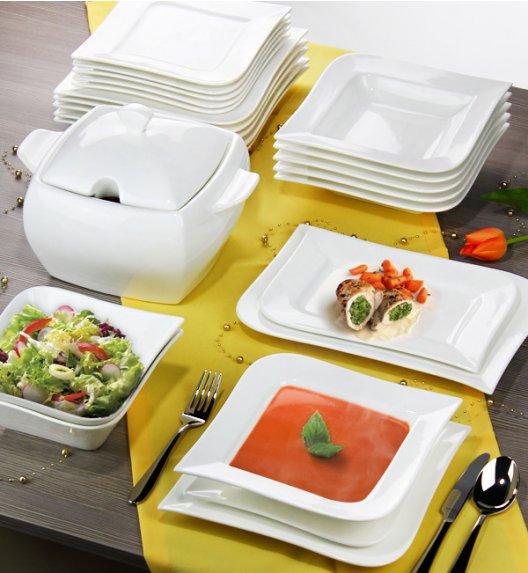 AMBITION FALA Serwis obiadowy 42 elementy dla 12 osób / Porcelana + GRATIS 49 ZŁ