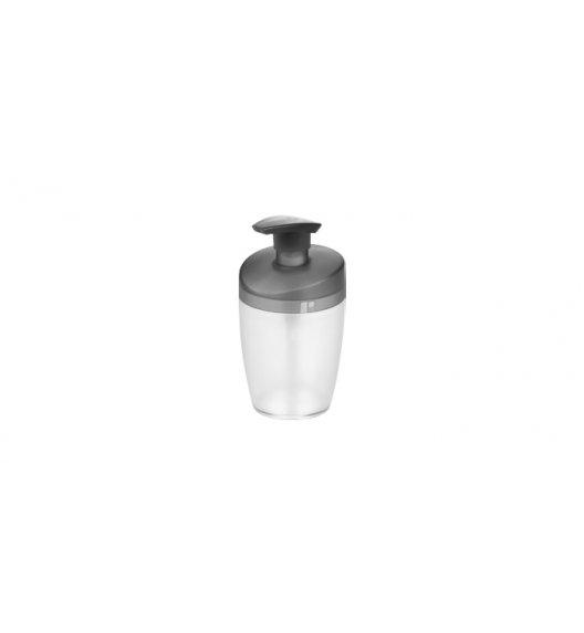 TESCOMA ON LINE Pojemnik na mydło lub płyn do naczyń z dozownikiem 400 ml przeźroczysty SZARY