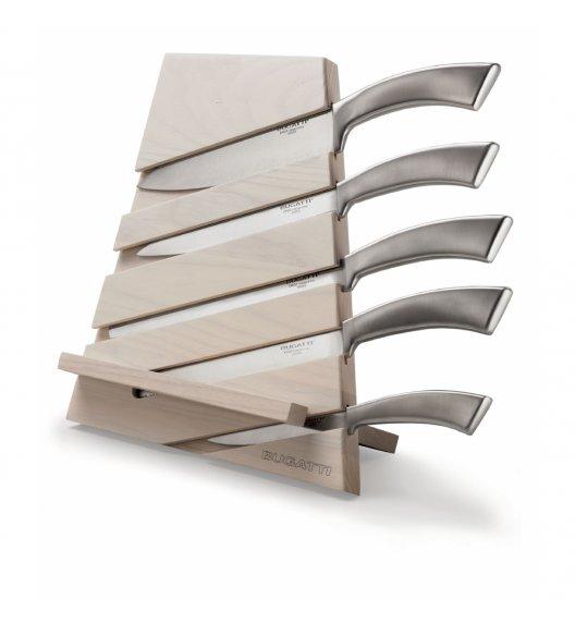 BUGATTI TRATTORIA Zestaw 5 noży Ergo w bloku drewnianym jasnym, Italy design
