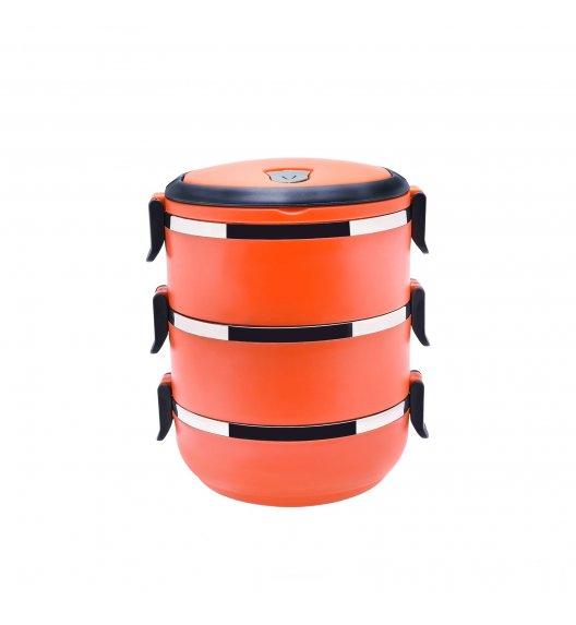TADAR Pojemnik obiadowy 2,1 L pomarańczowy / 3 warstwy