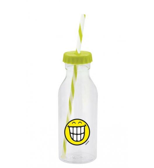 ZAK! DESIGNS Butelka ze słomką 550ml, zielona, Smiley / Btrzy