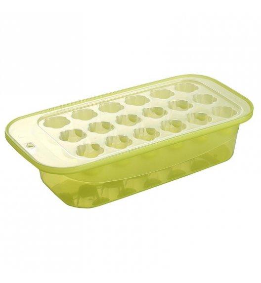 TADAR PLASTICA Foremka do lodu z pojemnikiem zielona / 18 kostek