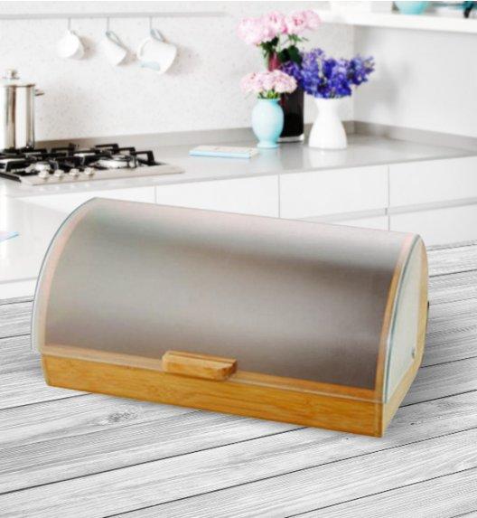 AMBITION GORDON Drewniany chlebak z plastikową pokrywą 39 x 28 x 18,5 cm / 68920