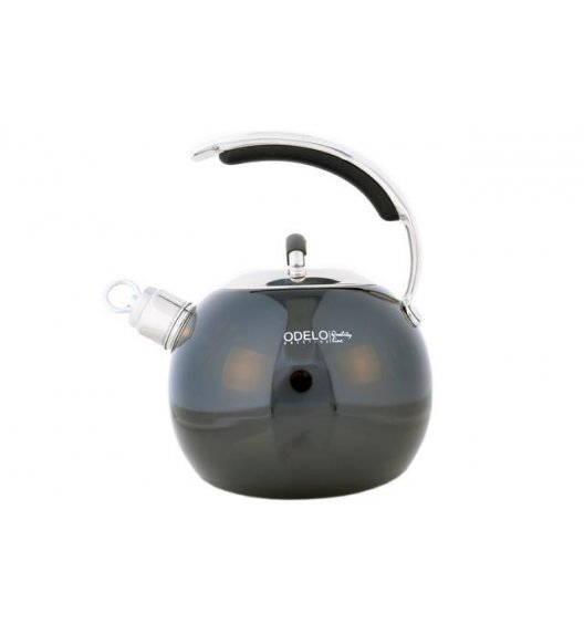 ODELO Stalowy czajnik emaliowany 3 L, czarny, indukcja, OD1091B