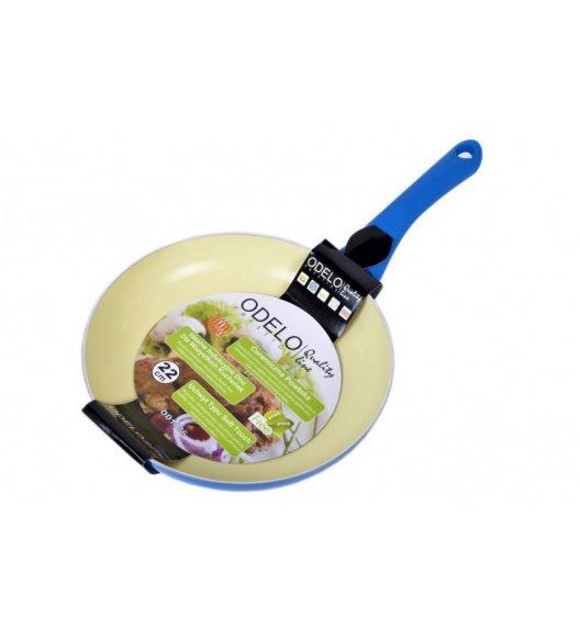 ODELO Niebieska patelnia z ceramiczną powłoką 22 cm / indukcja / OD1186B