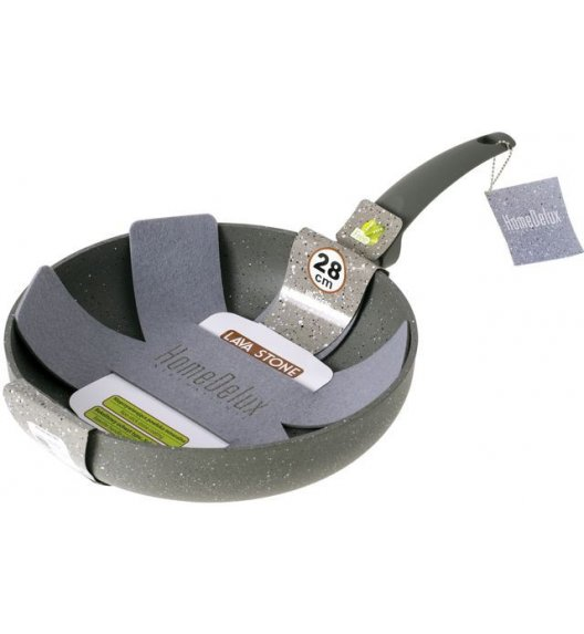 HOME DELUX HD12136 Głęboka patelnia 28 cm + GRATIS / powłoka Non-Stick / DELHAN