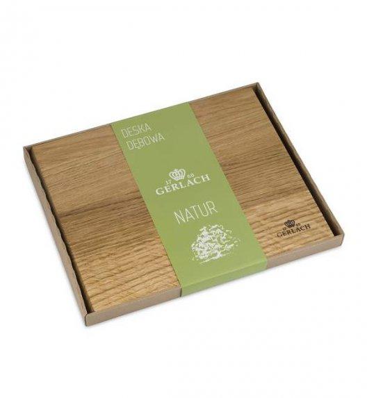 GERLACH NATUR Deska do krojenia z drewna dębowego 30 cm x 24 cm
