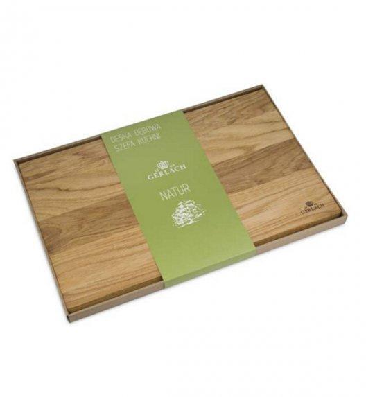 GERLACH NATUR Deska do krojenia z drewna dębowego 45 cm x 30 cm