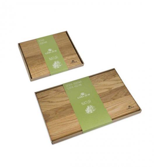 GERLACH NATUR Komplet dwóch desek do krojenia z drewna dębowego