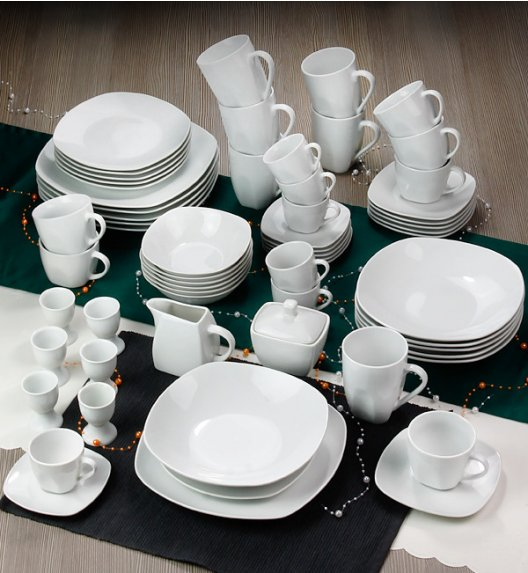 ARZBERG MERCURY Niemiecki serwis obiadowo-kawowy 124 el / 12 os / porcelana + GRATIS!
