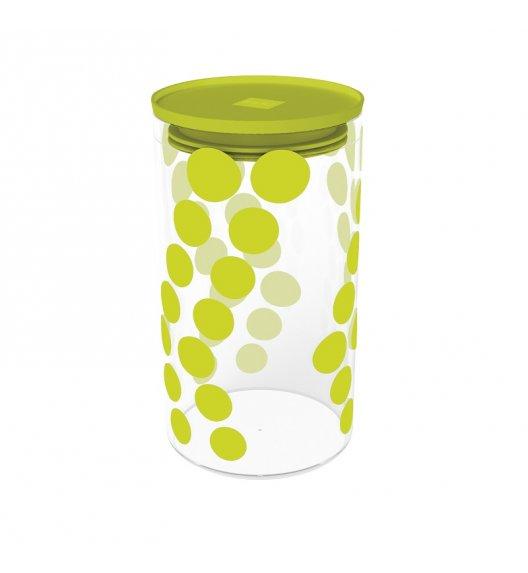 ZAK! DESIGNS Szklany pojemnik z pokrywką, zielone kropki 1,1 L / Btrzy