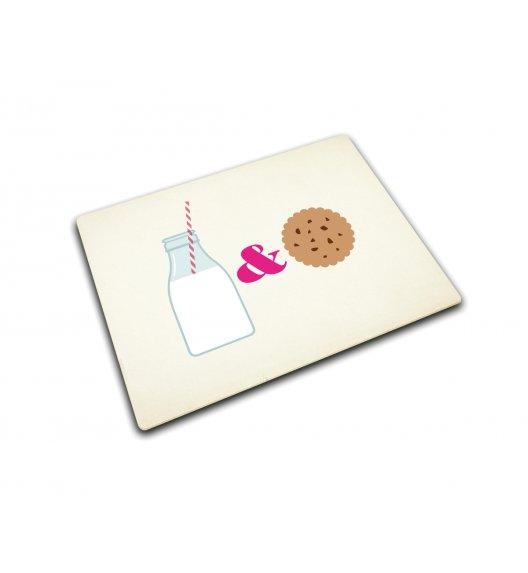 JOSEPH JOSEPH Podkładka szklana, Milk & Cookies 40 x 30 cm / Btrzy