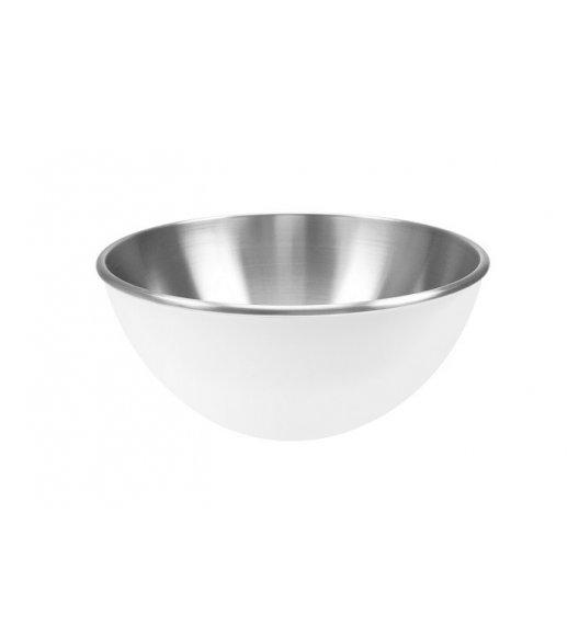 ZAK! DESIGNS Dwukolorowa miska stalowa, biała, 16 cm / Btrzy