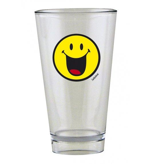 ZAK! DESIGNS Szklanka Smiley, ze znaczkiem HAPPY na zimne napoje, 300 ml / Btrzy