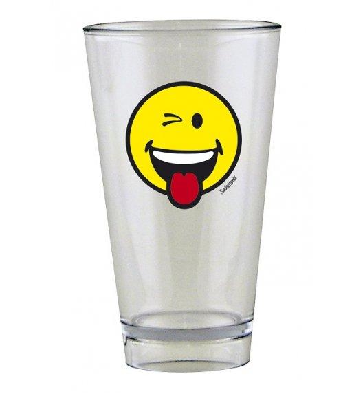 ZAK! DESIGNS Szklanka Smiley, ze znaczkiem WINK na zimne napoje, 300 ml / Btrzy
