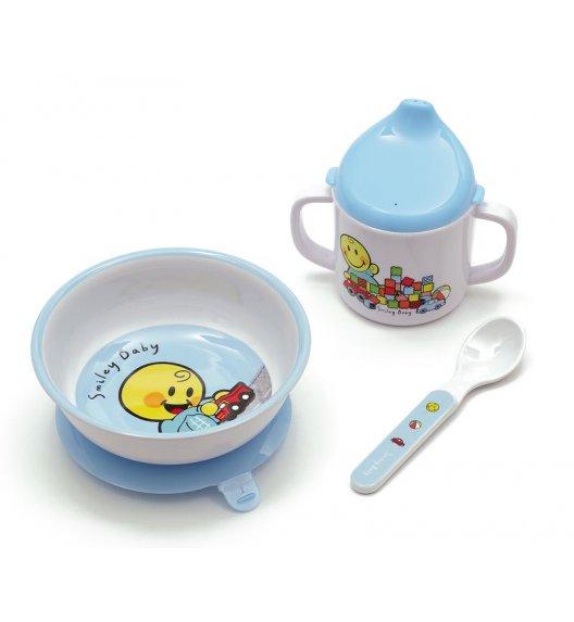 ZAK! DESIGNS Smiley Baby zestaw do nauki samodzielnego jedzenia dla chłopczyka, niebieski /Btrzy