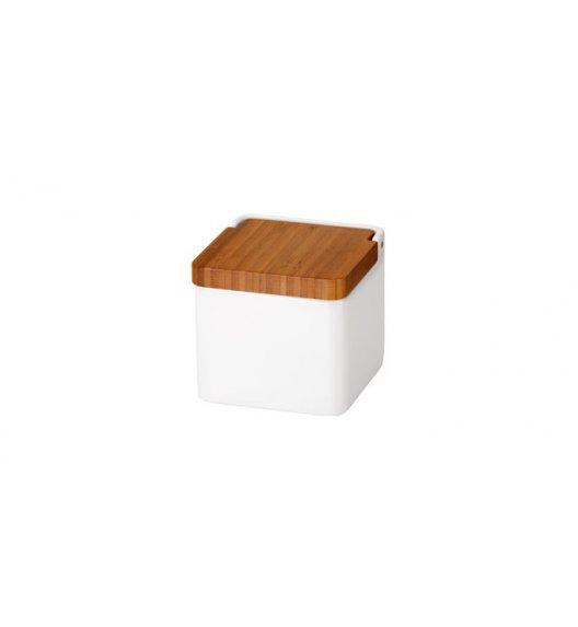 WYPRZEDAŻ! TESCOMA ON LINE pojemnik z pokrywką na żywność przyprawy 11 cm / ceramika + drewno bambusowe