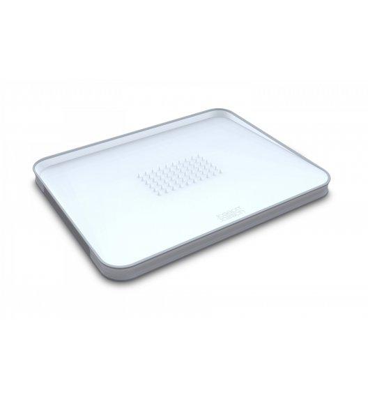 WYPRZEDAŻ! JOSEPH JOSEPH Cut&Carve Duża deska do krojenia 37,5 cm / biała / tworzywo sztuczne / Btrzy