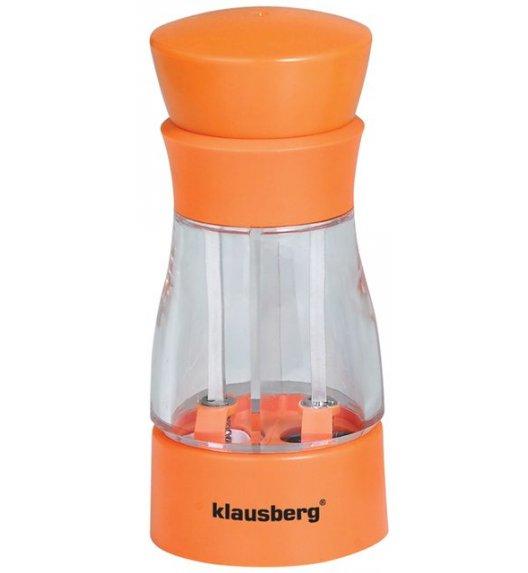 KLAUSBERG Młynek do soli i pieprzu podwójny POMARAŃCZOWY KB7018 DELHAN
