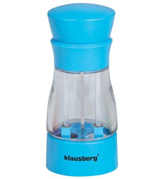 KLAUSBERG Młynek do soli i pieprzu podwójny NIEBIESKI KB7018 DELHAN