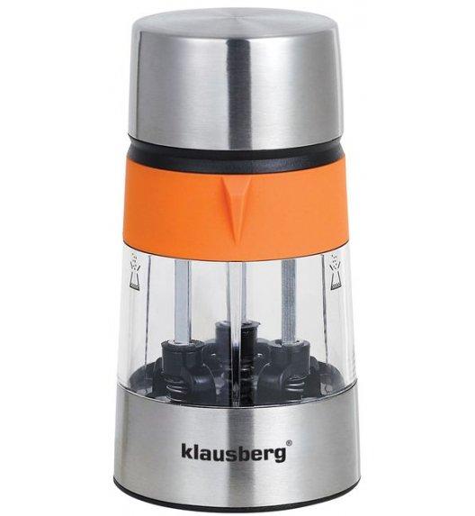 KLAUSBERG Młynek do soli i pieprzu podwójny POMARAŃCZOWY KB7020 DELHAN