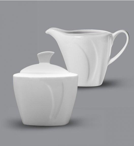 LUBIANA CELEBRATION Komplet Mlecznik 200 ml + Cukiernica 200 ml z pokrywką / 3 el / porcelana