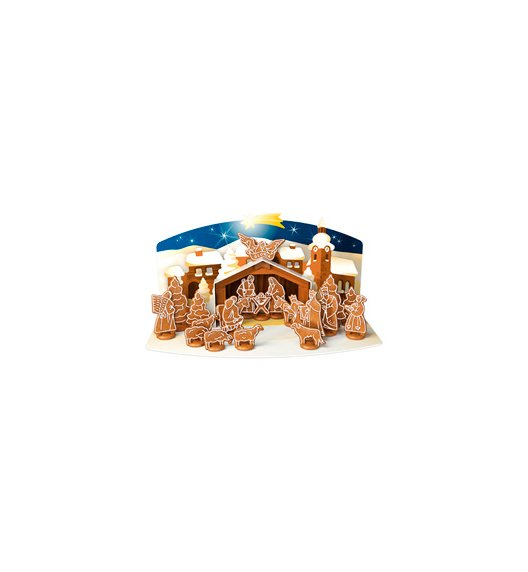 WYPRZEDAŻ! Tescoma Delicia Foremki do wykrawania ciasteczek x 19 szt + szopka Boże Narodzenie - świąteczna dekoracja