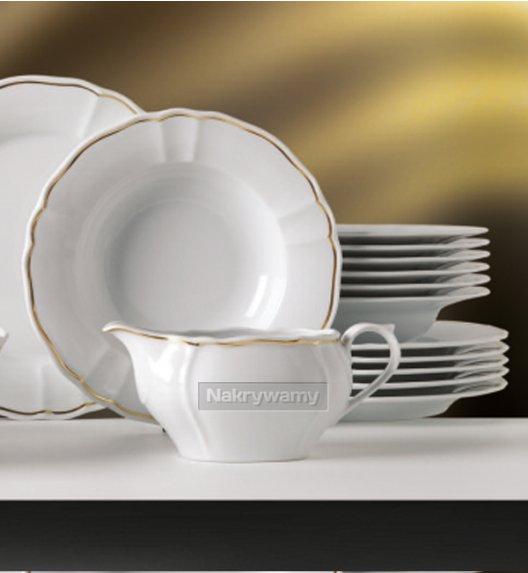 WYPRZEDAŻ! Serwis obiadowy Lubiana Maria Złoty Pasek 3 osób/12 elementów.