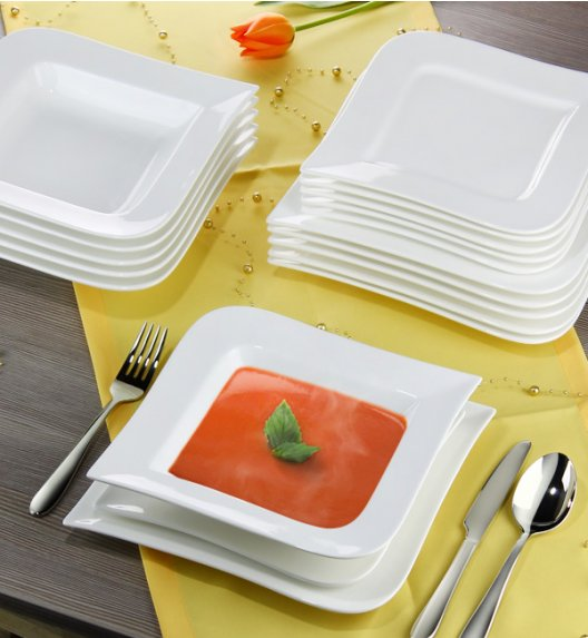 AMBITION FALA Serwis obiadowo-kawowy 35 elementów dla 6 osób / Porcelana + GRATIS 49 ZŁ / 62370/61160