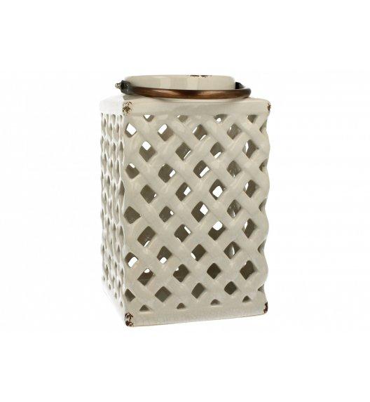 DUO Lampion ceramiczny Prostokąt 26 cm Biały