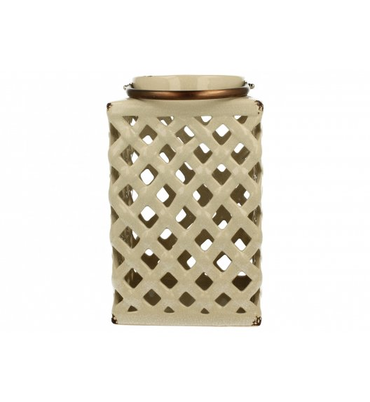 DUO Lampion ceramiczny Prostokąt 26 cm Kremowy