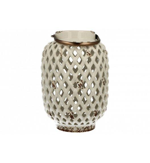 DUO Lampion ceramiczny Walec 28,5 cm Biały