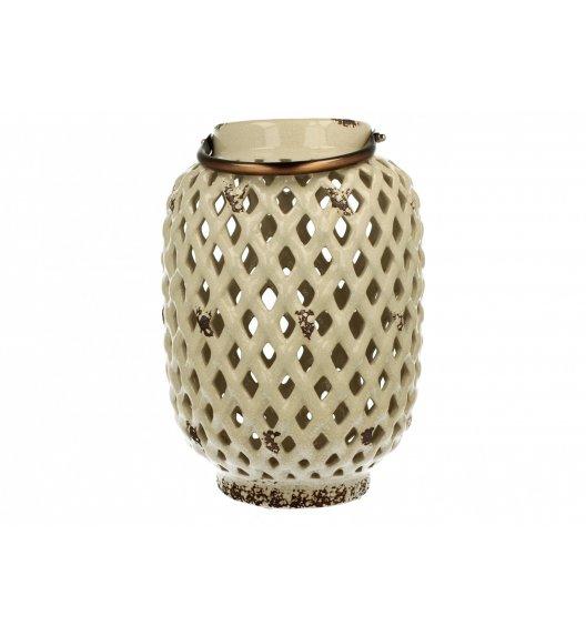 DUO Lampion ceramiczny Walec 28,5 cm Kremowy