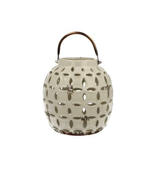 DUO Lampion ceramiczny Owal 17,8 cm Biały