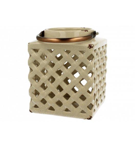 DUO Lampion ceramiczny Kwadrat 18 cm Kremowy