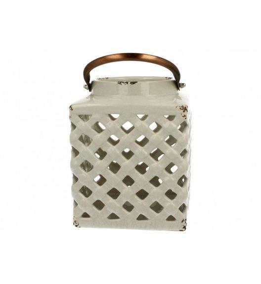 DUO Lampion ceramiczny Kwadrat 18 cm Biały
