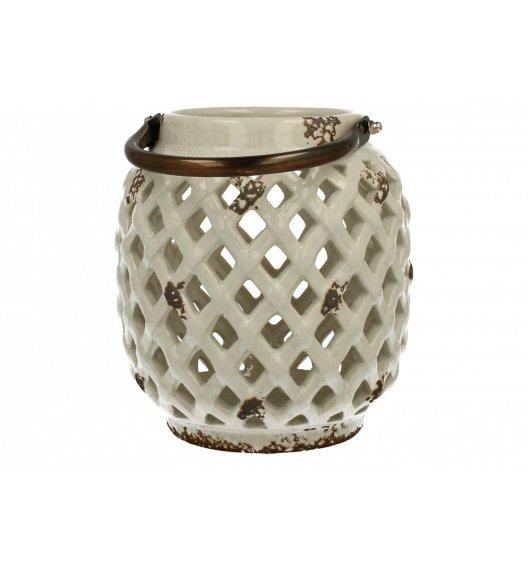 DUO Lampion ceramiczny Owal 16,7 cm Biały