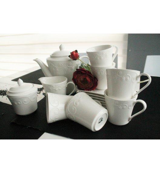 DUO ING Komplet kawowy 15 el / 6 osób / porcelana wysokiej jakości