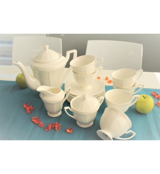 DUO CASSETTE Komplet kawowy 15 el / 6 osób / porcelana