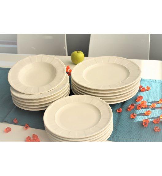 DUO CASSETTE Komplet obiadowy 18 el / 6 osób / porcelana