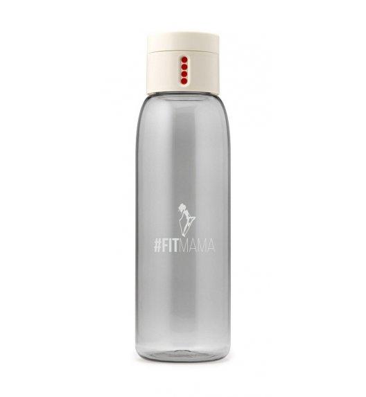 HPBA Anna Lewandowska Butelka na wodę 600 ml #Fitmama DOT Kremowa / Btrzy