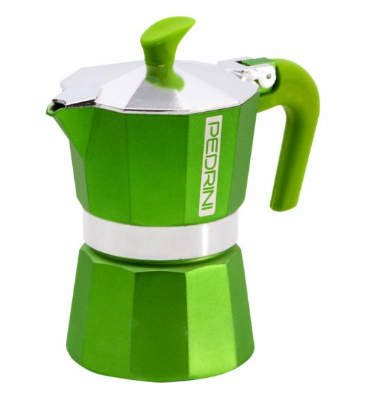 PEDRINI Aroma Summer Kawiarka aluminiowa na 3 espresso zielona 02CF029GR / scapol