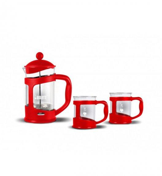 BIALETTI COFFEE PRESS Zestaw do kawy zaparzacz + 2 kubki 4651 czerwony / scapol