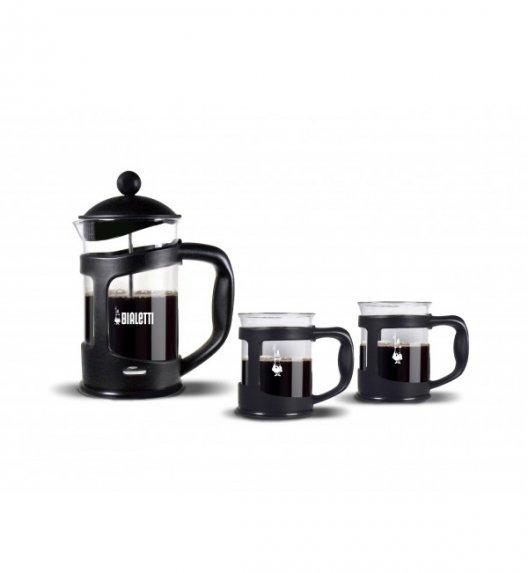 BIALETTI COFFEE PRESS Zestaw do kawy zaparzacz + 2 kubki czarny 4652 / scapol