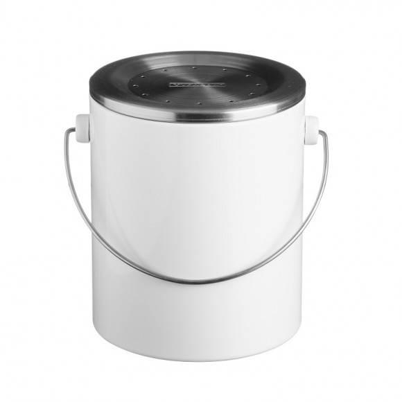 TYPHOON Kompostownik z filtrem neutralizującym zapach 3 l HUDSON, biały / Btrzy