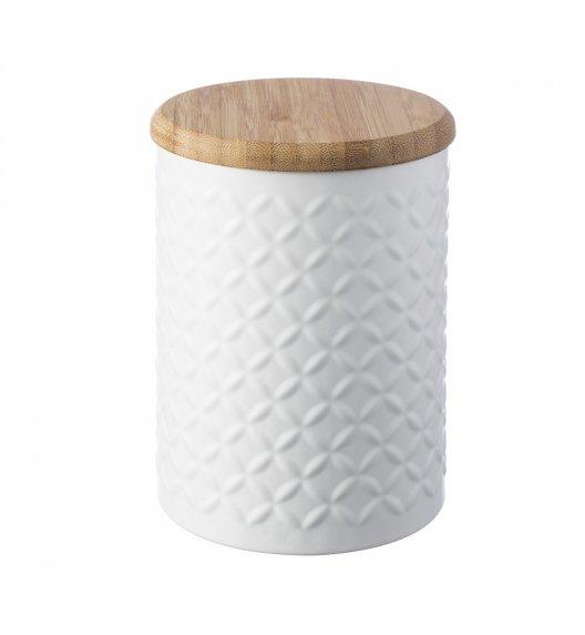 TYPHOON Stalowy pojemnik z bambusową pokrywką 1,2 l IMPRIMA ostrosłupy / Btrzy