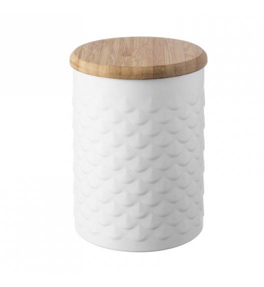 TYPHOON Stalowy pojemnik z bambusową pokrywką 1,2 l IMPRIMA rybia łuska / Btrzy
