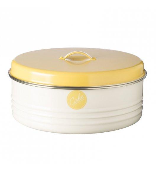 TYPHOON Stalowy pojemnik na ciasto 4,3 l VINTAGE AMERICANA, biało-żółty / Btrzy